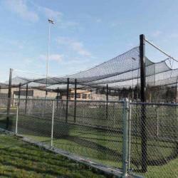 70'x14'x12' HDPE #42 Baseball Softball Batting Cage White Topped MLB Cage 60ply