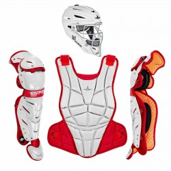 All-Star AFx Series Fastpitch Softball Catcher's Package - White/Scarlet - Small
