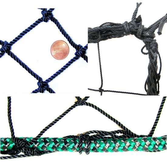 #72 Nylon Impact Panel Net, 12' X 14', Rope Border+Leadlin
