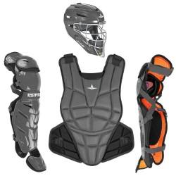 All-Star AFx Series Fastpitch Softball Catcher's Package - Graphite - Medium