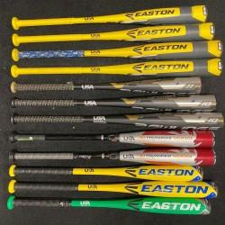 12 bat USA Bat Baseball Lot(CHEAP) Easton, Rawlings, DeMarini, -10, -8, -5, -11,