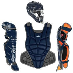 All-Star AFx Series Fastpitch Softball Catcher's Package - Navy - Small