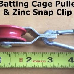 400pcs Pulleys & 400pcs Zinc Carabiner Snap Clips Netting Baseball Batting Cage