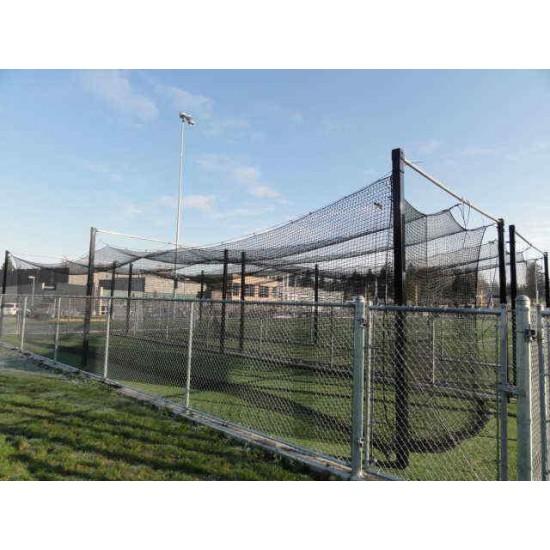 35'x14'x12' HDPE #42 Baseball Softball Batting Cage  MLB Cage 600ply