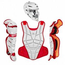 All Star AFX Intermediate 13-16 Fastpitch Softball Catchers Gear Set White Red