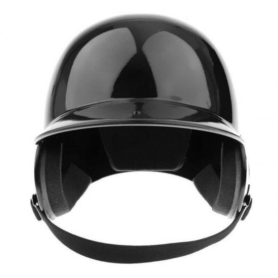 10X(Batter's Helmet Softball Baseball Helmet Double Flap - Black L4R8)