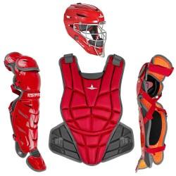 All-Star AFx Series Fastpitch Softball Catcher's Package - Scarlet - Medium