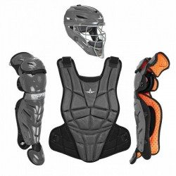 All Star AFX Youth 10-12 Fastpitch Softball Catchers Gear Set - Graphite
