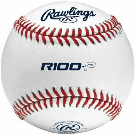 (337) case of rawlings 100-P Flat Seem College Practice Baseballs 10 dozen