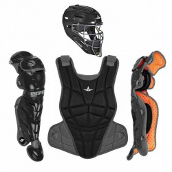 All Star AFX Intermediate 13-16 Fastpitch Softball Catchers Gear Set - Black