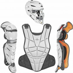 All-Star CKWAFXMED AFX Fastpitch Softball Catching Kit Medium White/Graphite