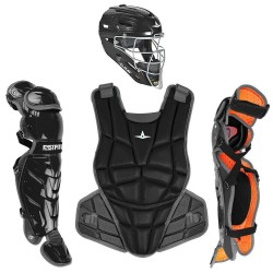 All-Star AFx Series Fastpitch Softball Catcher's Package - Black - Small