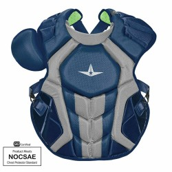All-Star Sports S7 Axis Adult Baseball Softball Catcher Chest Protector, Navy