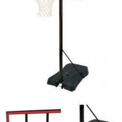 44-In Ratchet Lift Polycarbonate Portable Basketball Hoop, 8-10 Feet, Adjustable
