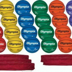 6-Color Basketball Pack (Junior Size) - 29 Pieces