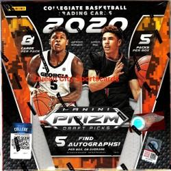 2020/21 Panini Prizm Collegiate Draft Picks Basketball Factory Sealed Hobby Box