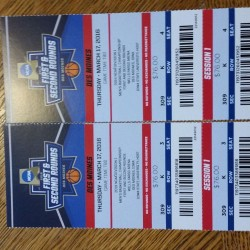2 NCAA Basketball Tickets Des Moines - SESSION 1