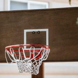 "25"" X 49"" Handmade Wooden Brown Basketball Backboard W/ Hoop NBA sports Outdoor"