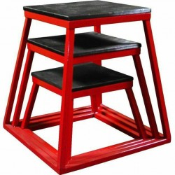 Ader Strong Welded Cross Train Fitness Red 3pc Plyometric Set 12-18-24