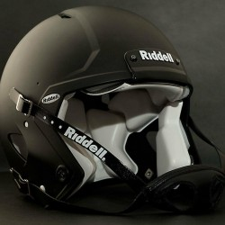 ADULT LARGE Riddell SPEED Football Helmet (FLAT BLACK) with S2BD-SW-SP Facemask