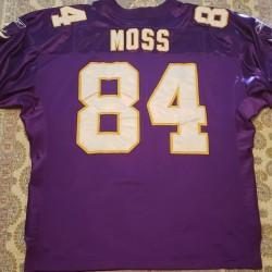 2001 Randy Moss Authentic Real Reebok Minnesota Vikings Stitched XL 52 Jersey