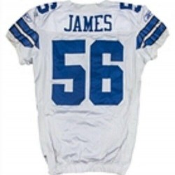 2008 Bradie James Game Used Dallas Cowboys Home Jersey Used For Season's Home Op