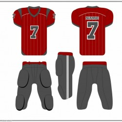 American Football Uniforms Custom Sublimation 11 Set Jersey and Pant Adult youth