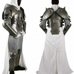 Conquest Warcrafted Armour Silver/Black One Size