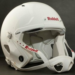 ADULT LARGE Riddell SPEED Football Helmet (FLAT WHITE) w/S2BD-SW-SP Facemask