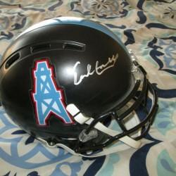 Earl Campbell authentic football helmet Rawlings JSA