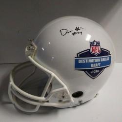F/S Riddell 2018 autographed NFL draft Dallas custom Football Helmet