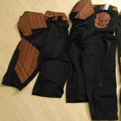 70 lot Wilson Adult/Youth GST Football 5 Pad Girdle compress Shorts M,L,XL,2X,3X