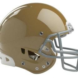 6 Rawlings gold helmet w/facemask adult small medium football NRG Quantum New