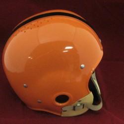 Dick Kazmaier Princeton Custom FULL SIZE ORANGE R/K Suspension Helmet w/#42