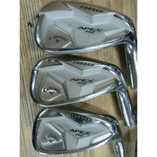 '19 SINGLE DOT TOUR ISSUE CALLAWAY APEX PRO FORGED IRON SET 4 - PW  *HEADS ONLY*