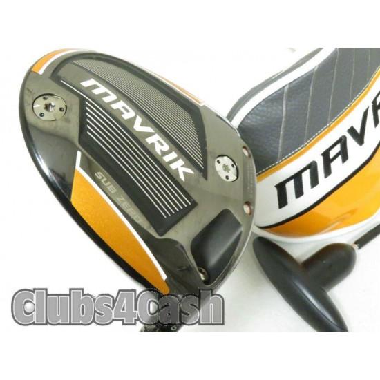 Callaway Mavrik Driver Sub Zero 9*  Even Flow RipTide 5.5 Regular +Cover & Tool