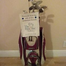 Lady Fairway HSL full set (D,3W,5W,4-6H,7-SW) & Cart Golf bag & rain cover